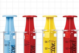 Colored VacLok Negative Pressure Syringes, Qosina